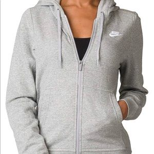 615f0d756d6a Nike Tops - Nike Zip-up Fleece Gray Women s Hoodie 853930-063